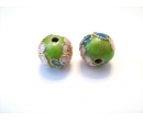 Cloisonne beads 10G