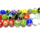 Chevron glass beads 10R