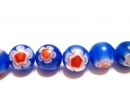 Chevron glass beads 8R