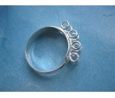 Base rings - sterling silver